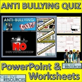 Anti Bullying PowerPoint Quiz lesson and Worksheets