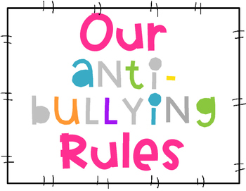 Anti-Bullying Rules- Bright Colors