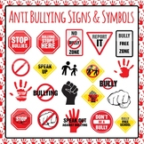 Anti Bullying Signs Symbols and Icons Clip Art Pack for Commercial Use