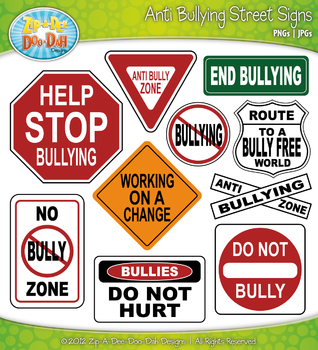 Anti Bullying Street Signs Clipart {Zip-A-Dee-Doo-Dah Designs}