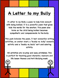 Anti Bullying poem, 3 writing connections, and 2 bully or buddy activities.