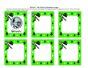 Anti-Communist leader baseball cards