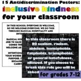 Anti-Discrimination Signs  #kindnessnation #weholdthesetruths