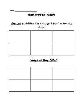 Anti-Drugs Worksheet