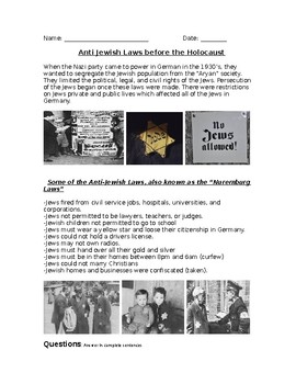 Anti-Jewish Laws during the Holocaust