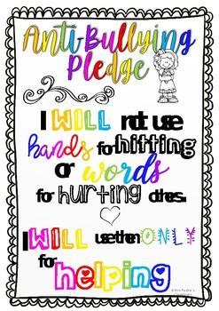 Anti Bulling Pledge Poster