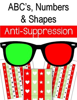 Anti-Suppression. ABCs, Numbers, and Shapes. Alphabet. Eye Therapy. Amblyopia.