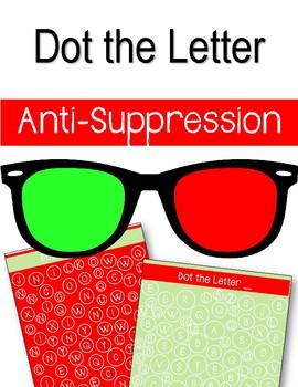 Anti-Suppression. Dot the Letter.  Alphabet. Dot Marker. Eye Therapy. Amblyopia.