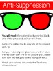 Anti-Suppression. Matching Activity.  Red and Green.  Eye Therapy. Ambylopia