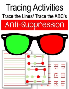 Anti-Suppression. Tracing Activities. Lines & Letters. Eye Therapy. Amblyopia.