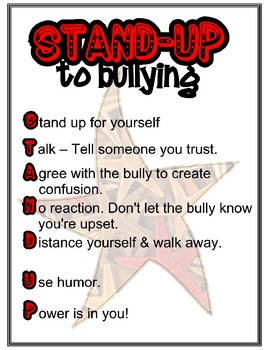 Anti-bully poster - Stand-up