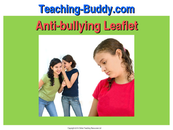 Anti-bullying Advice Leaflet - ELA teaching resource