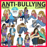 Bullying / Sad Teens Clip Art