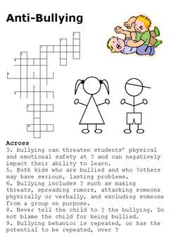 Anti-bullying Crossword