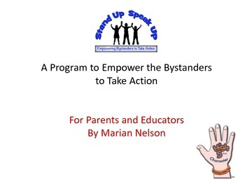 Anti-bullying School Presentation- Stand Up, Speak Up