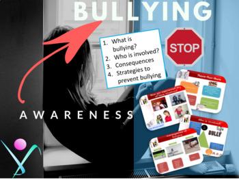 Anti-bullying, bullying awareness bundle NO PREP (ppt/handout)