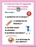 Anti-tattletale poster in French // Plus de rapportage ! A