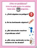Anti-tattletale poster in Spanish // Antes de pedir ayuda