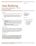 Antibullying Lesson Printable Activities - Research Survey & Graphic Art