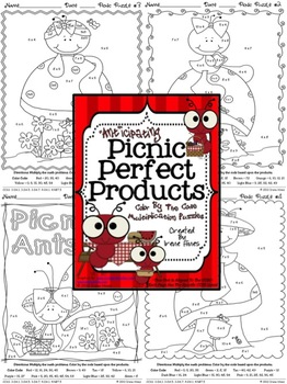 "Multiplication: ""Ant""icipating Picnic Perfect Products ~ Math Color By The Code"