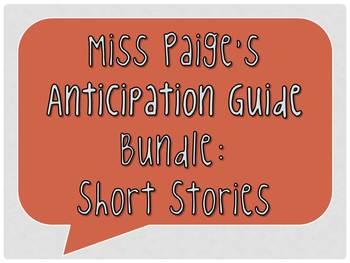 Anticipation Guide Bundle: Short Stories