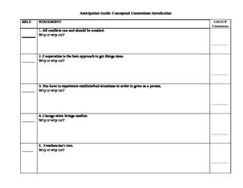 Anticipation Guide - Social Studies Concepts