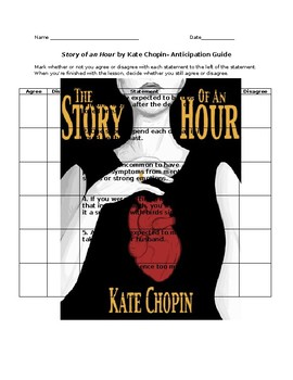 Anticipation Guide-The Story of an Hour by Kate Chopin