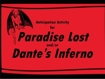 Anticipation Guide for Paradise Lost and/or Dante's Inferno