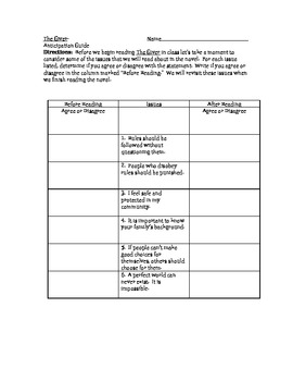 The Giver Lesson Plans Lesson Plans and Ideas for Teaching The Giver
