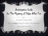 Anticipation Guide for A&E Biography: The Mystery of Edgar