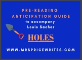 Anticipation Guide of Holes by Louis Sachar
