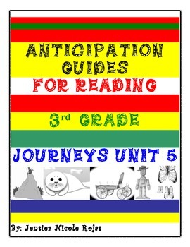 Anticipation Guides Journeys Unit-5 3rd Grade Reading Comp