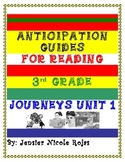Anticipation Guides Journeys Unit-1 3rd Grade Reading Comprehension Strategy