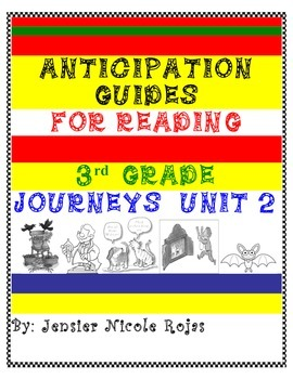 Anticipation Guides Journeys Unit-2 3rd Grade Reading Comprehension Strategy