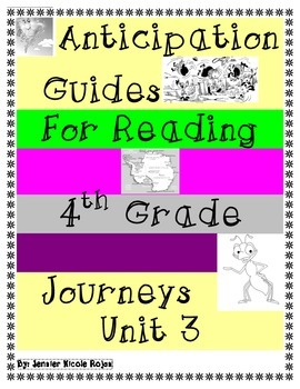 Anticipation Guides Journeys Unit-3 4rd Grade Reading Comprehension Strategy