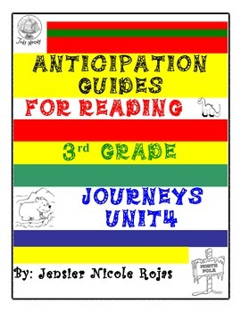 Anticipation Guides Journeys Unit-4    3rd Grade Reading Comprehension Strategy