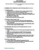 Anticipatory Set and Reading Guide: To Kill A Mockingbird