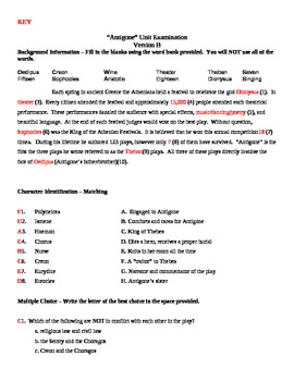 Antigone 2 Tests / Units Exams - College Prep and IEP Tests