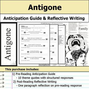 Antigone - Anticipation Guide & Reflection