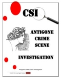 Antigone: CSI Classroom Investigation and Murder Board