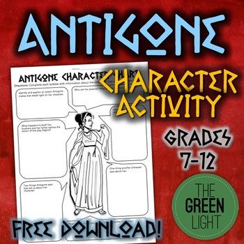Antigone Characterization Activity -- Worksheet, Bell-Ringer, FREE!