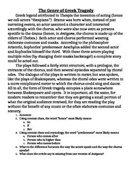 Antigone Close Read Passages