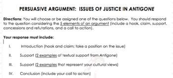 antigone justice essay