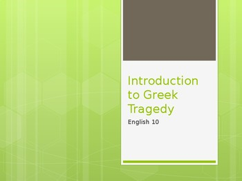 Antigone / Greek Tragedy Intro