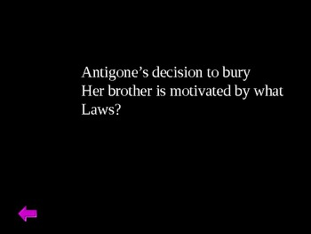 Antigone Jeopardy Review Game