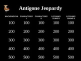 Antigone Jeopardy Review Game