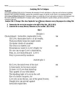 Antigone Ode 3 Analysis