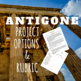 Antigone Project Options with Rubric