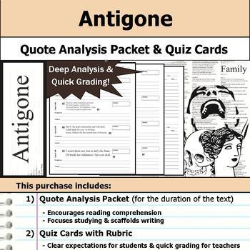 Antigone - Quote Analysis & Reading Quizzes