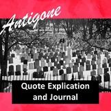 Antigone Quote Explication and Journal